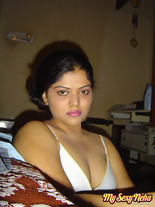 Pretty Indian Chick Neha Shows Off Her Huge Tits