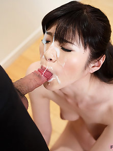 Amazing Beauty Face Wet by Her Dashing Man Thick Jizz