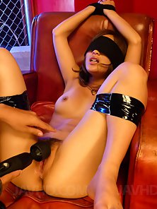 Sizzling Whore Aika Takes Sex Toys Rubbing from Dude in Bondage Activity