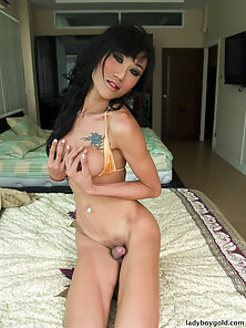Stunning Shemale Display Her Huge Dick and Gets Awesome Anal Fingering Acts