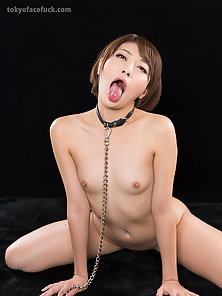 Short hair slut getting hard fucked in the mouth