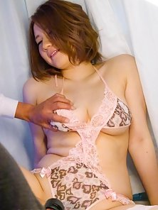 Stockings Wearing Babe Alice Ozawa Takes Hairy Pussy Rubbing from Dude