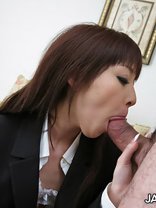 Miho Miyazawa is an office slut that loves to ride