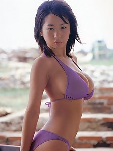 Rio Natsume in Various Bikinis and Shows off Her Naughtily