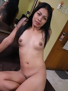 Long Hair Brunette Filipina Babe Shows Off Her