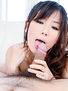 Small Boobs Asian Girl Manami Komukai Takes Big Cock of Her Guy in Hairy Pussy