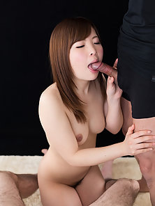 She loves getting her mouth filled after giving blowjob