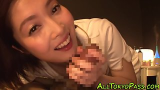 Cute Asian Chick Kissing and Sucking Hard Cock