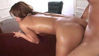 Gorgeous Girl Jerked Her Dashing Guys Big Dicks