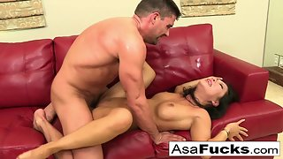 Dazzling Ladies Asa Akira and her friend slammed by guy