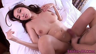 Beautiful Asian Teen Rides on Her Partner Dick after Sucking