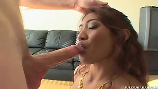 Naked Lyla Lei ass and pussy pounded after giving a nice blowjob