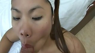 Skinny Petite Teen Gives A Blowjob To Hard Cock In POV