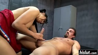 Asian cheerleader Mika Tan loves getting rammed hard by coach's cock