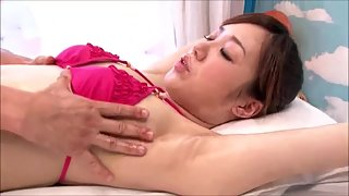 Bikini Japanese girl massage fuck public glass room
