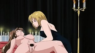 Redhead anime teacher gets her ass pumped full of fluid in satanic ritual